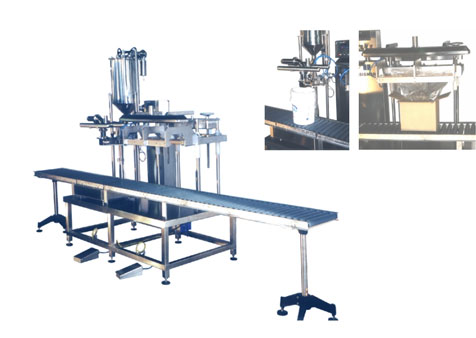 Automatic weight filler for buckets, crates and cartons BA 25.