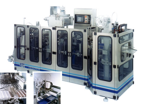 Form fill seal machine for small portions BTC 6x2 – BTC 6x4.