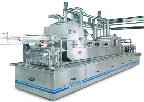 Aseptic linear filling and packaging machine for trays SIGNA Aseptic